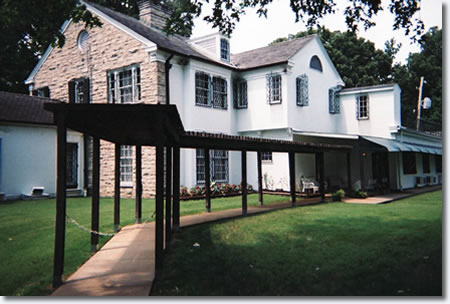 Graceland, the walkway at the rear of the house