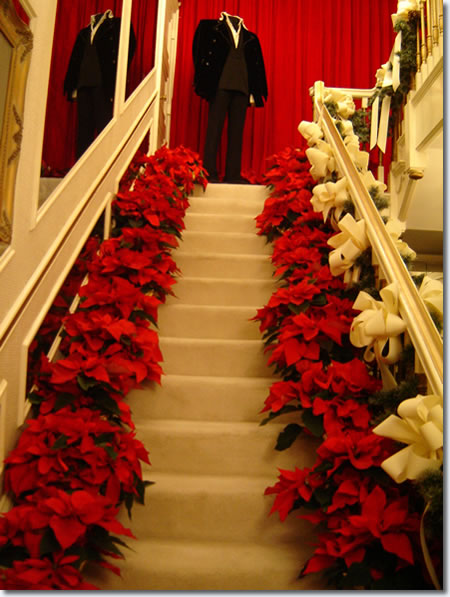 The stairs to Elvis' private private residence. Photo by Ester, an Elvis fan from Argentina