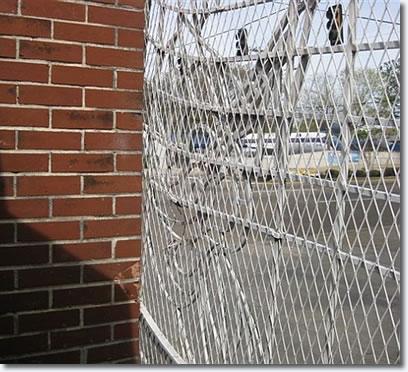 Damaged Graceland gate