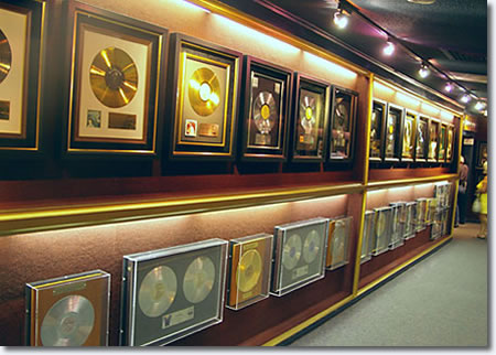 Elvis Presley's Gold Records at Graceland