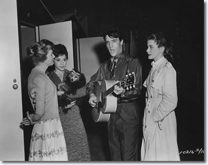 Jan Shepard Liliane Montevecchi, Elvis Presley and Dolores Hart