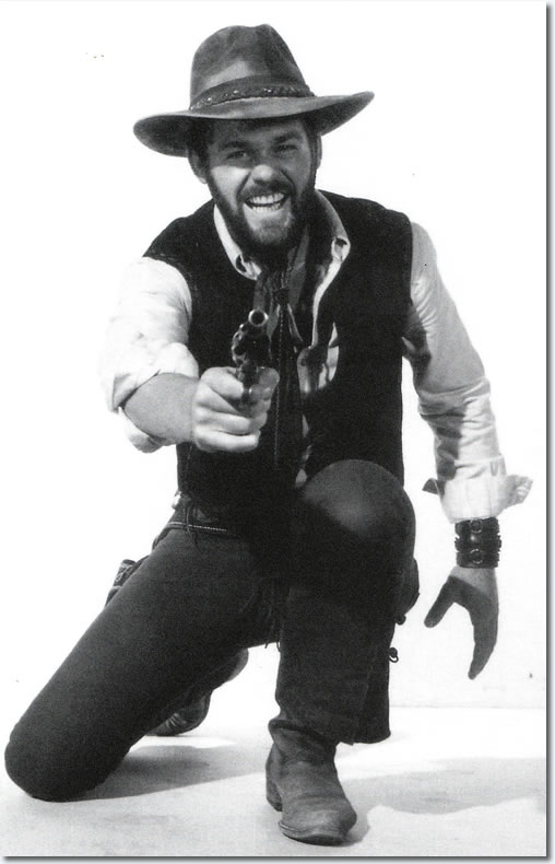 Jerry Schilling as Elvis Presleys Stunt Double in Charro! - From the book, Elvis Presley as The One Called Charro