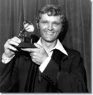 Gerry Reed with his Grammy award, March 14, 1972