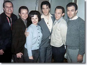 Elvis, The Jordanaires and Millie Kirkham at Studio B