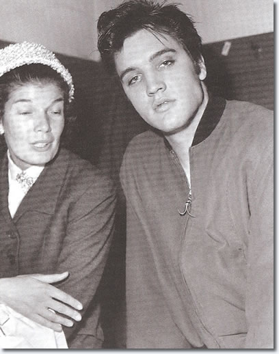 A rare picture of Elvis from 1957, with one of Canada's most revered authors, June Callwood.