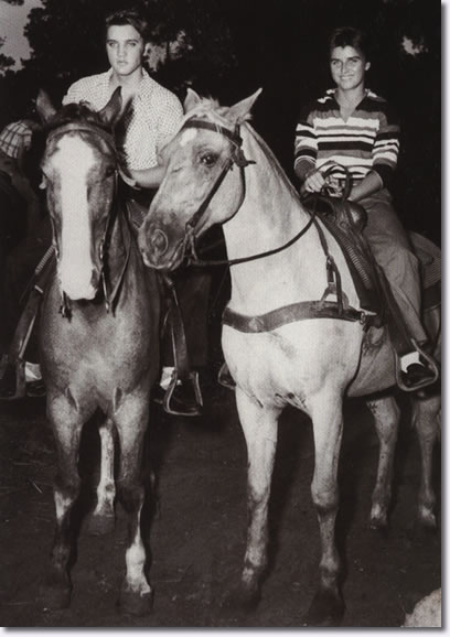 Elvis Presley and June Juanico Gulf Hills Dude Ranch 1956