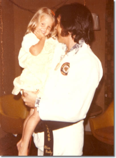 Lisa Marie with her father