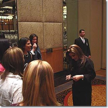 Lisa Marie Presley at Crown Casino Melbourne 2004