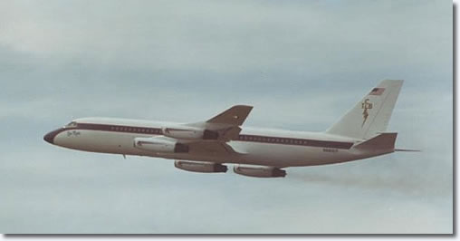Elvis Presley's Lisa Marie Convair 880 in flight