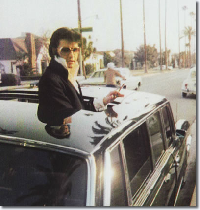 Elvis in his Mercedes-Benz 600 - November 12, 1970