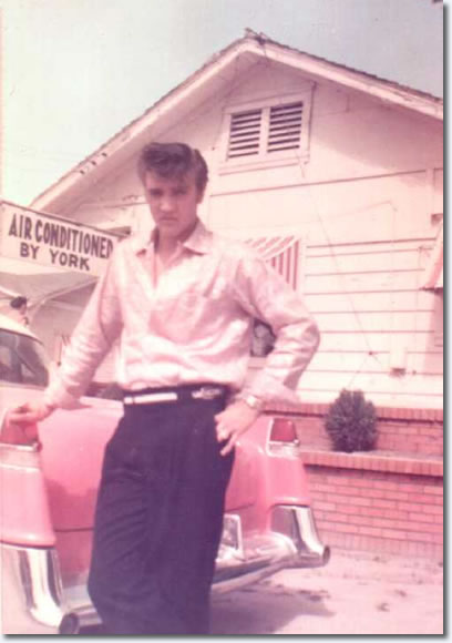 Elvis Presley with his Pink Cadillac