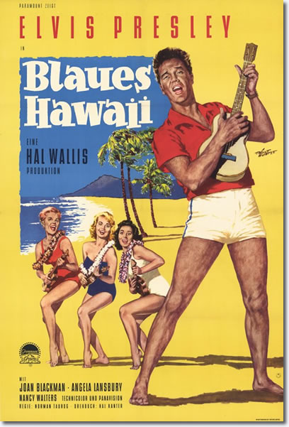 Blue Hawaii - German Movie Poster