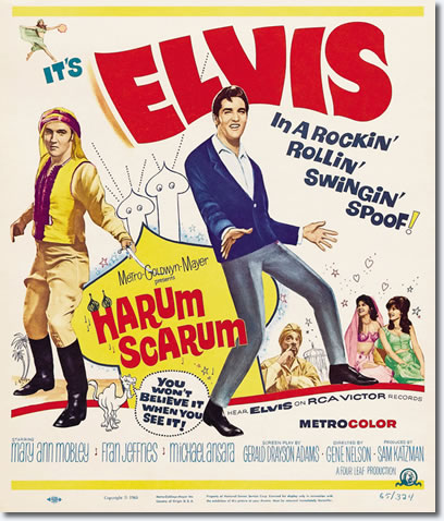 Harum Scarum Movie Poster - MGM 1965