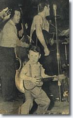 Royce Hanson Jr. with Elvis at the Gladewater High School Gym.
