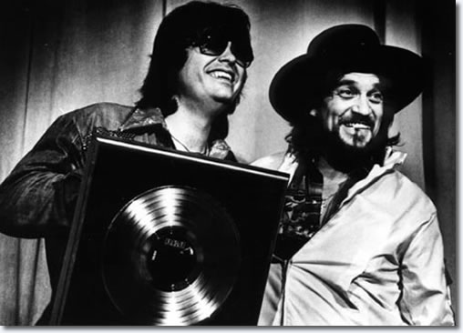 Ronnie Missap with country superstar, Waylon Jennings