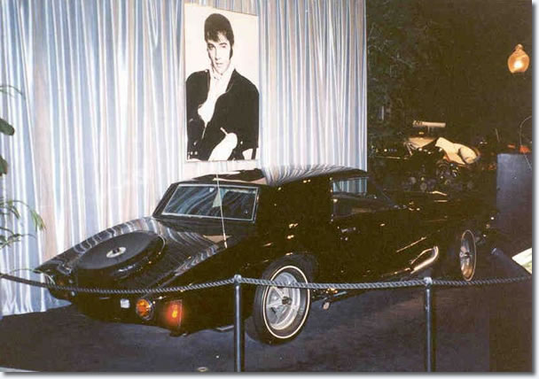 Elvis' Stutz Blackhawk prototype on display at the Graceland Car Museum
