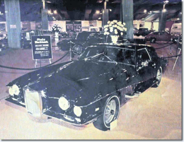 The 1970 Stutz prototype at the LA Car Show - This was the car sold to Elvis