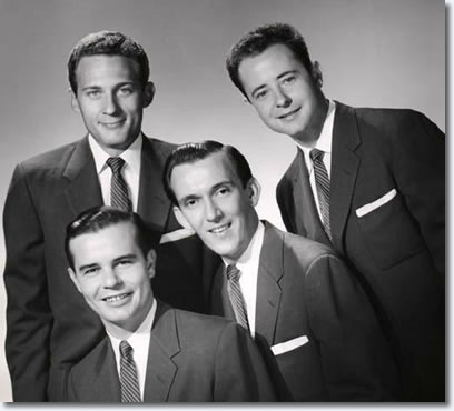 The Jordanaires - (Top L to R) : Hoyt Hawkins, Gordon Stoker, (Bottom L to R): Neal Matthews, Hugh Jarrett