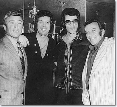 Merv Griffin, Tom Jones, Elvis Presley, Norm Crosby