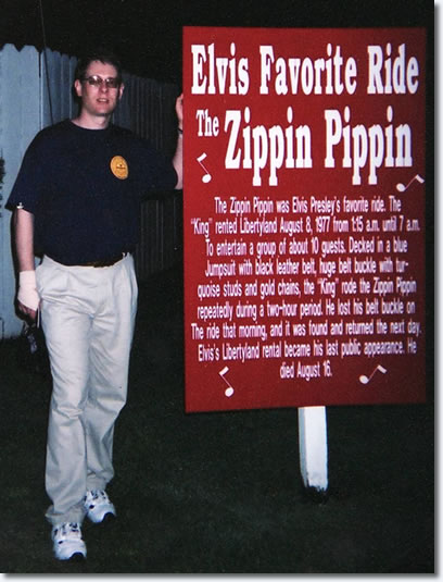 Elvis Australia's David Troedson visits the Zippin' Pippin in 2002