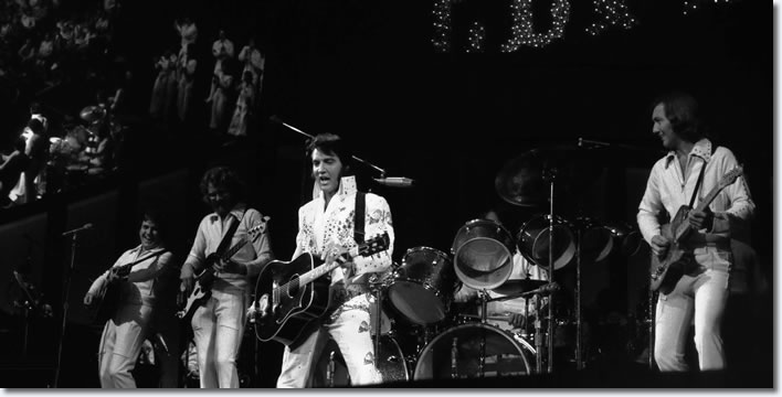 Another really great photograph is the one displayed over pages 108 and 109. It reminds me of watching Elvis, Scotty and Bill on the Dorsey Bros. Stage show. [No I have not forgotten D.J.].