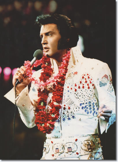 Elvis Presley : Aloha From Hawaii Concert : January 14, 1973. From the Boxcar / JAT book, Aloha Via Satellite [Page 293]