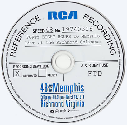 48 Hours To Memphis Concert CD