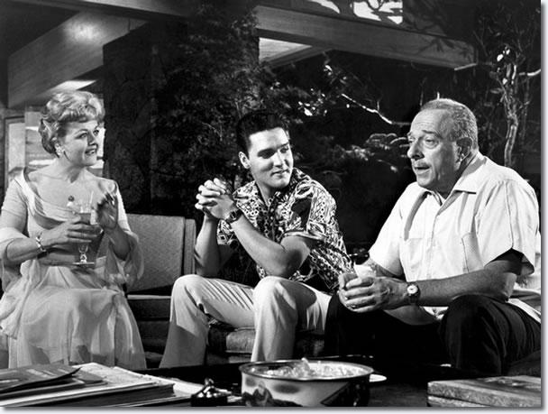 Angela Lansbury, Elvis Presley and Roland Winters : Blue Hawaii : 1961.