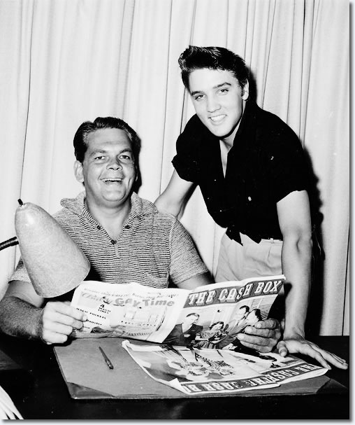 Bob Neal and Elvis Presley.