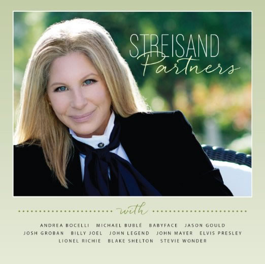 Barbra Streisand 'Partners' CD featuring a duet with Elvis Presley
