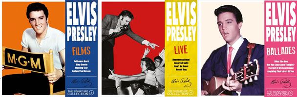 #3 (Films), #4 (Live) , #5 (Ballades) : The Elvis Presley 'The Signature Collection' is limited to 500 units numbered and remastered.