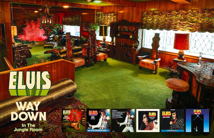The 'Jungle Room', Graceland, Elvis Presley Boulevard, Memphis, Tennessee.