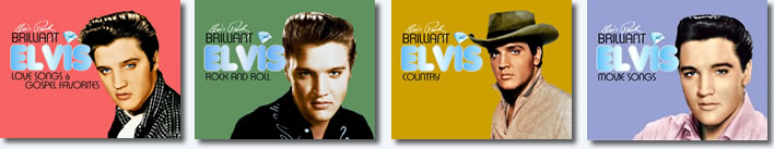 Brilliant Elvis 4 Double CDs : The Collection