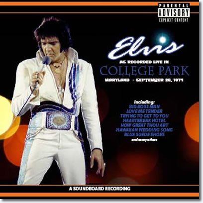 Elvis As Recorded Live In College Park Maryland : September 28, 1974 2 CD