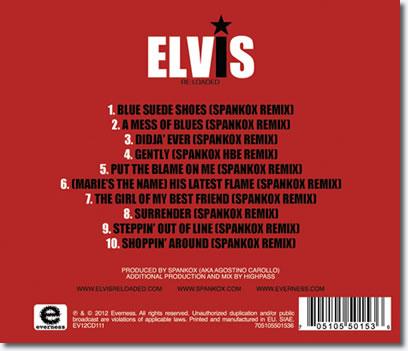 Elvis Presley 'Re:Loaded' CD Back Cover.