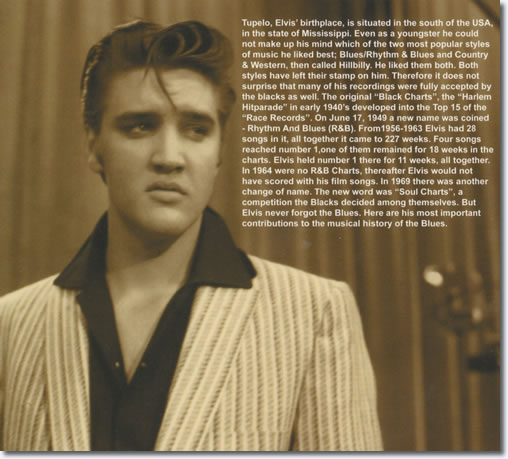 Elvis Sings The Blues CD : The inside Flap.