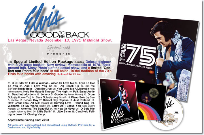 Good To Be Back CD : The December 13th, 1975 Midnight Show