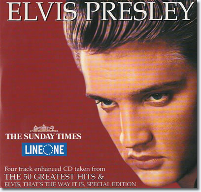 Promo Enhanced CD from 'The 50 Greatest Hits' CD & 'Elvis That's The Way It Is' DVD.