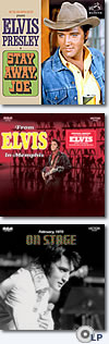 Stay Away Joe CD, From Elvis In Memphis 2 CD +  On Stage vinyl 2 LP.
