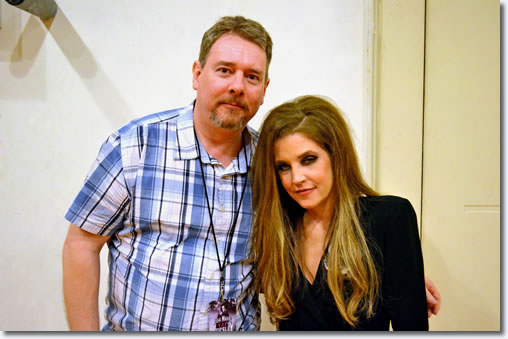 David Troedson with Lisa Marie Presley backstage, Melbourne Arts Centre March 25, 2014.