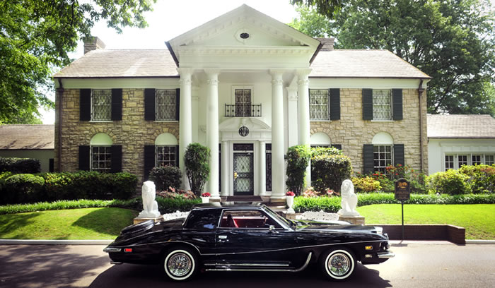 Elvis' 1973 Stutz Blackhawk III Returns Home to Graceland