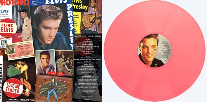 "Elvis Presley 'Tender Love' on Pink Vinyl limited Edition 12"" LP HAND Numbered record."