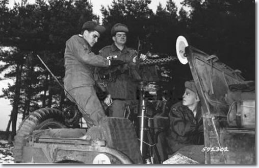 Elvis Presley on maneuvers in Grafenwöhr