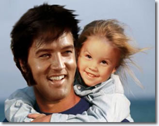 Elvis Presley and Lisa Marie Presley (Digital Image)