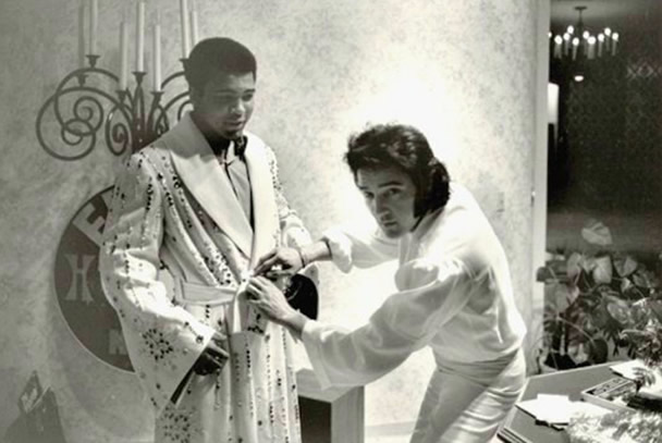 Muhammad Ali and Elvis Presley February 14, 1973.