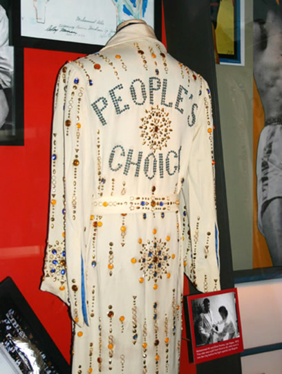 The robe and Elvis Presley gave Muhammad Ali.
