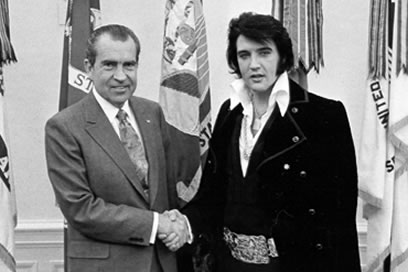 On December 21, 1970, Elvis famously met President Richard Nixon at the White House.