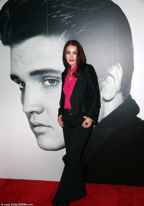 Priscilla Presley with Elvis, 2014.