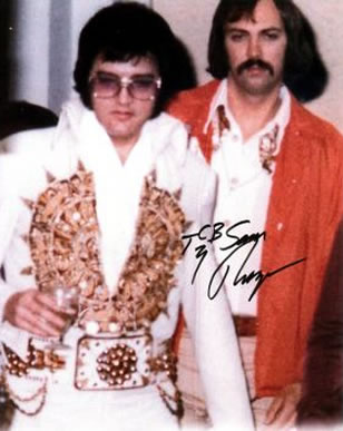 Elvis Presley and Sam Thompson 1977.