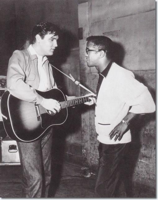 Elvis Presley and Sammy Davis Jr, King Creole set.